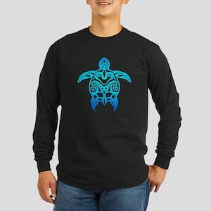 Ocean Blue Tribal Turtle Long Sleeve T-Shirt