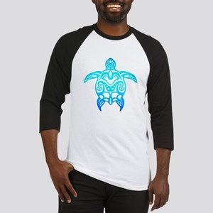 Ocean Blue Tribal Turtle Baseball Jersey