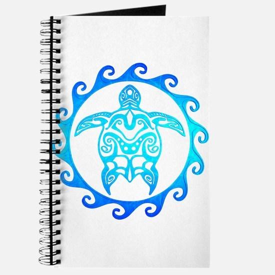 Blue Tribal Turtle Sun Journal