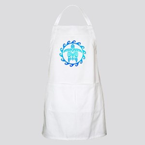 Blue Tribal Turtle Sun Apron