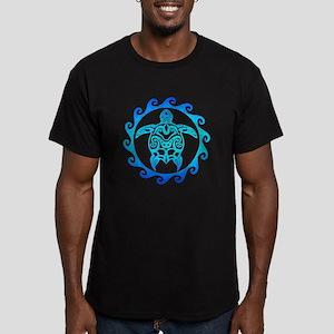 Blue Tribal Turtle Sun T-Shirt