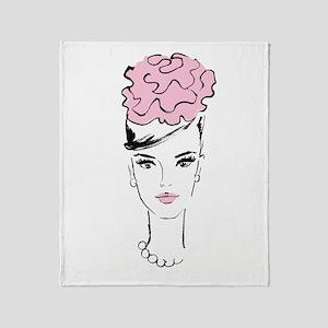 romantic in pink Throw Blanket