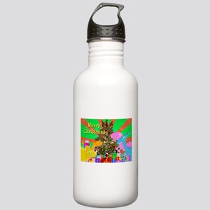 Cute Dinosaurs Christmas Tree Water Bottle