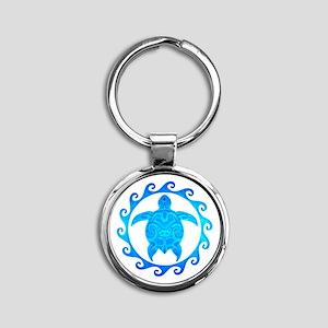 Ocean Blue Turtle Sun Keychains