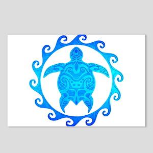 Ocean Blue Turtle Sun Postcards (Package of 8)