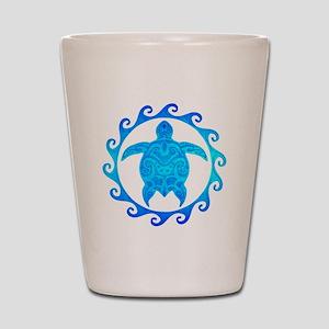 Ocean Blue Turtle Sun Shot Glass