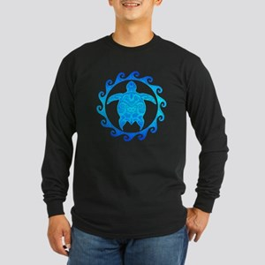 Ocean Blue Turtle Sun Long Sleeve T-Shirt