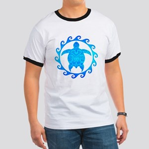 Ocean Blue Turtle Sun T-Shirt