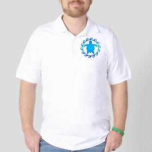 Ocean Blue Turtle Sun Golf Shirt