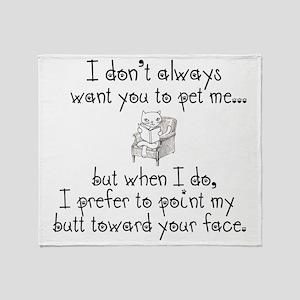 Butt Face Throw Blanket