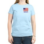 Support our Troops Women's Pink T-Shirt