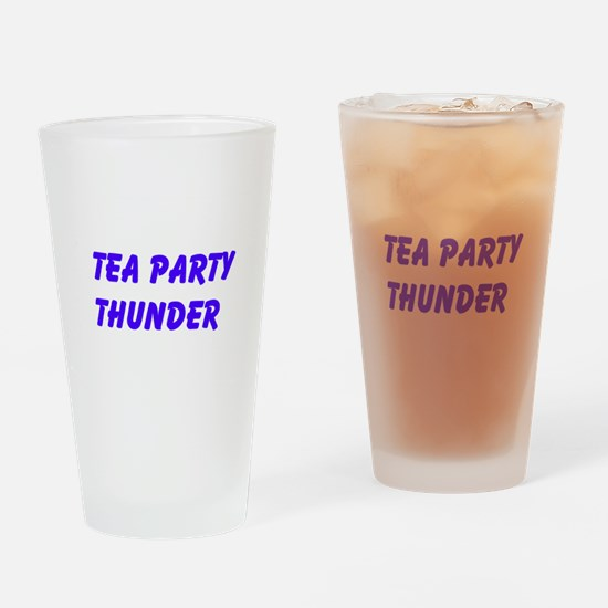 Tea Party Thunder Drinking Glass