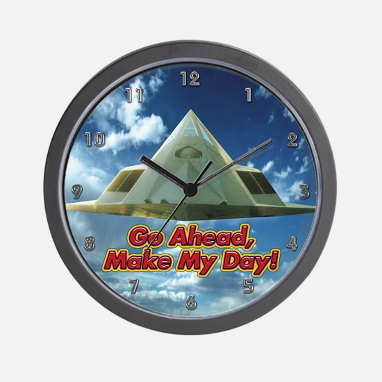 F-117 Stealth Fighter Wall Clock