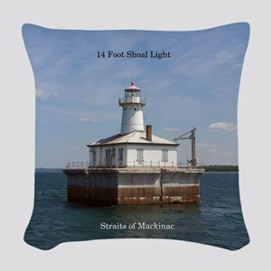 14 Foot Shoal Light Woven Throw Pillow