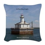 14 Foot Shoal Light Woven Throw Pillow
