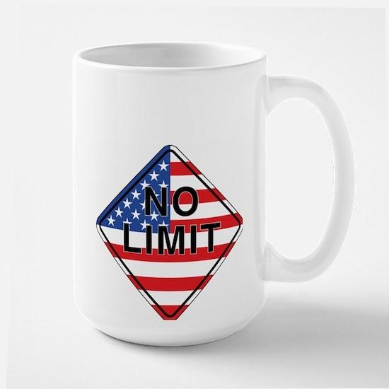 NO LIMIT flag Large Mug