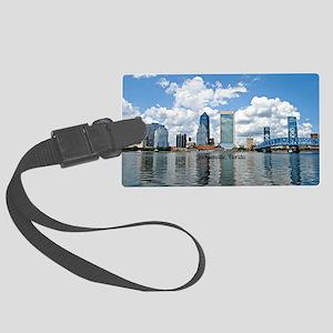 Jacksonville, Florida cityscape Large Luggage Tag