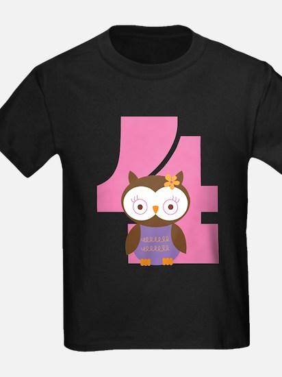 4th Birthday Owl Girl T