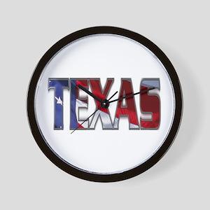 Patriotic Texas Wall Clock