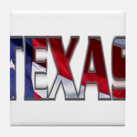 Patriotic Texas Tile Coaster