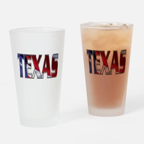 Patriotic Texas Drinking Glass