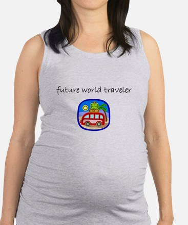 future world traveler.bmp Maternity Tank Top