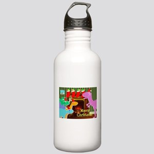 Cute Dinosaurs Fireplace Water Bottle