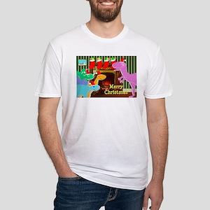 Cute Dinosaurs Fireplace T-Shirt