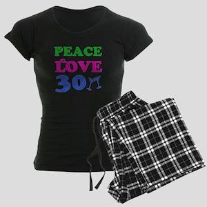 Peace Love 30 Women's Dark Pajamas