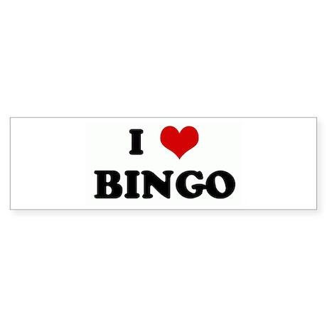 I Love BINGO Bumper Sticker