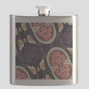 floral patten japanese textile Flask