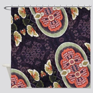 floral patten japanese textile Shower Curtain