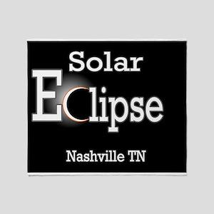 nashville eclipse Throw Blanket