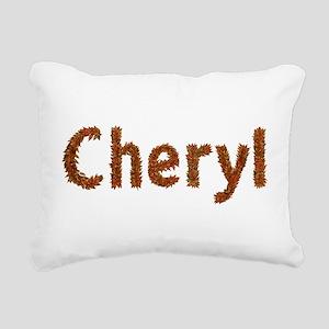 Cheryl Fall Leaves Rectangular Canvas Pillow