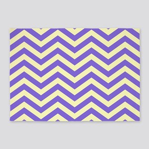 Purple and Yellow Chevrons 5'x7'Area Rug