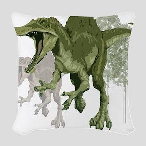 spinosaurus Woven Throw Pillow