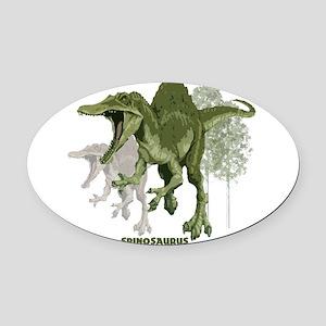 spinosaurus Oval Car Magnet