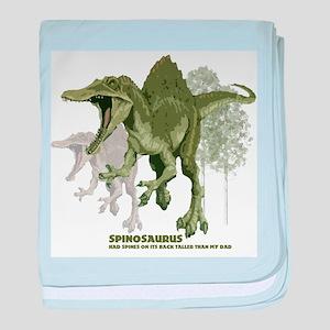 spinosaurus baby blanket