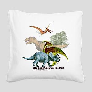 cretaceous Square Canvas Pillow