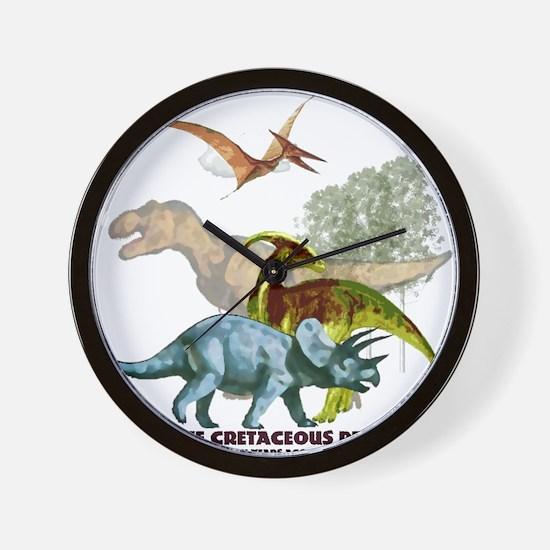 cretaceous.png Wall Clock