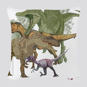 theropods Woven Throw Pillow