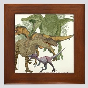 theropods.jpg Framed Tile