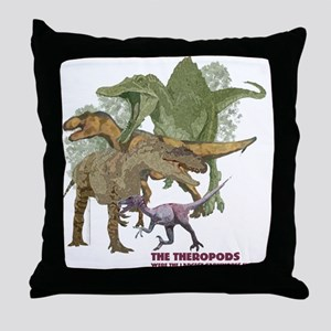 theropods Throw Pillow