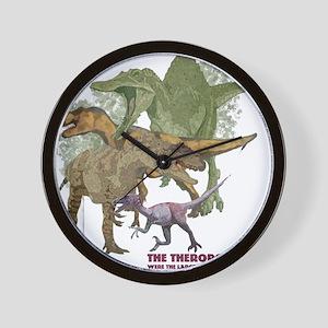 theropods.jpg Wall Clock