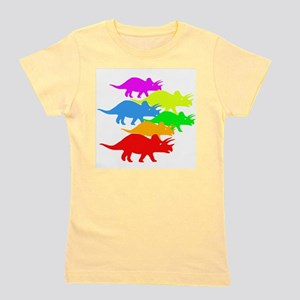 Triceratops Family Girl's Tee