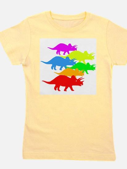 Triceratops Family Girl's Tee