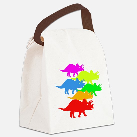 Triceratops Family Canvas Lunch Bag