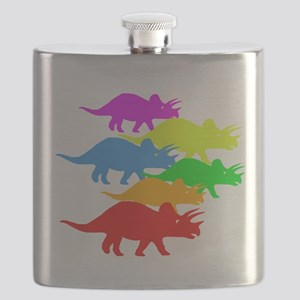 Triceratops Family Flask