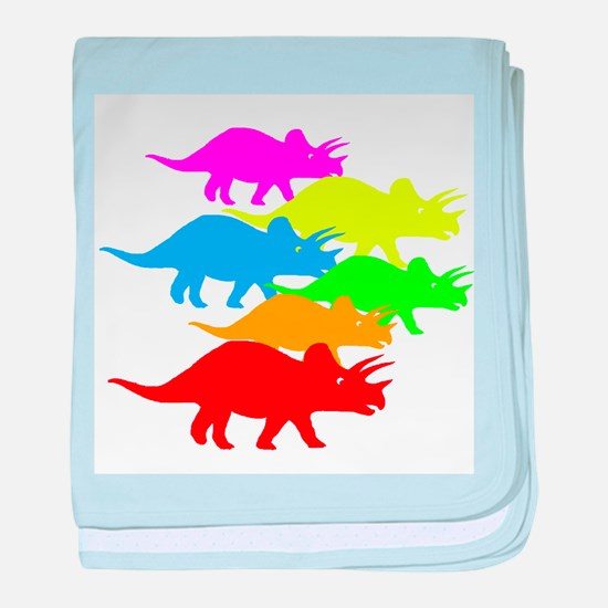 Triceratops Family baby blanket