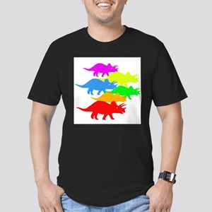 Triceratops Family Men's Fitted T-Shirt (dark)